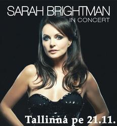 Sarah Brightmanin konsertti 21.11. ja 1 yön majoitus Tallinnassa kahdelle. Sis. konserttiliput, kuljetukset konserttiin ja majoitus Ilmarine-hotellissa