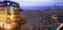 Romanttinen Pariisi, 1 yö majoitus keskustahotellissa kahdelle sis. aamiaisen