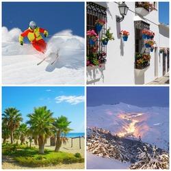 Lento ja hotellipaketti viikoksi yhdelle Espanjassa, yhdistetty lumi- ja kaupunkiloma tammi-maaliskuussa! Sis lennot Helsingistä 4 yötä Fuengirolassa ja 3 yötä Sierra Nevadassa, suksivuokra  sekä vuokra-auton!