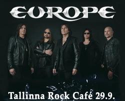 Tallinna: 80-luvun hittibändi Europen konsertti 29.9. ja majoitus kahdelle, sis. liput, majoitus, pullo kuohuvaa.