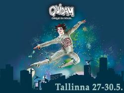 Tallinna: Cirque du Soleilin Quidam Tallinnassa toukokuussa kahdelle. Sis. 2 lippua esitykseen kuljetuksineen, 1 yön majoitus 4-tähden hotellissa ja aamiainen