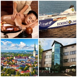 Laivamatkat ja hemmotteluloma  Tallinnassa - sis. aromihieronta , 1 yön majoitus aamiaisella yhdelle, pullo kuohuviiniä ja paljon muuta. Lisäyö +32€/hlö. Voimassa elokuussa!